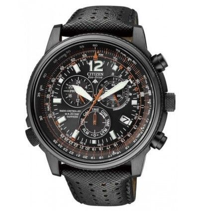 CITIZEN AS4025-08E IP Black Crono-Pilot Radiocontrolado CABALLERO.