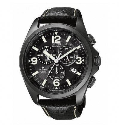 RELOJ CITIZEN AS4035-04E Titanio Black Crono Radiocon CABALLERO.