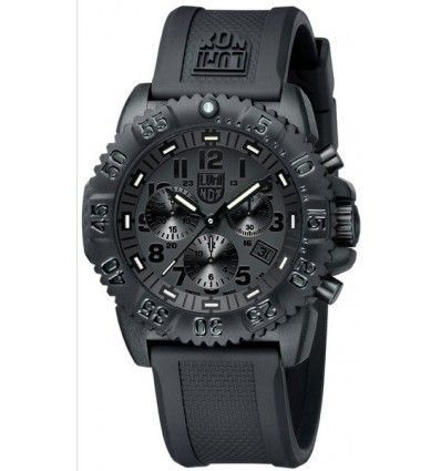 RELOJ LUMINOX 3081 BO EVO SEAL BLACKOUT CHRONO BLACK CABALLERO.