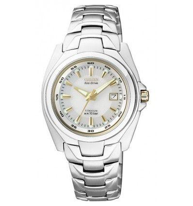 Reloj CITIZEN EW0911-50A ECO-DRIVE super titanio MUJER.