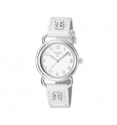 BUBBLE SS + WHITE DIAL AND STRAP MUJER: