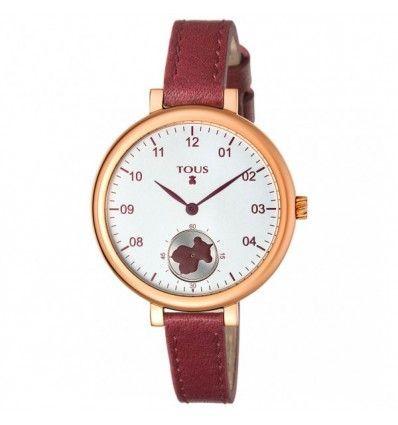 Reloj TOUS 600350440 SPIN IPRG ESF SILVER OSO CORREA BURDEOS MUJER