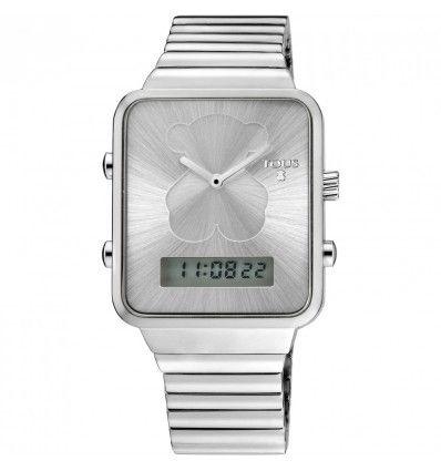 Reloj TOUS 700350120 I-BEAR SS DIG SQUARE BRAZALETE ESF ACERO MUJER