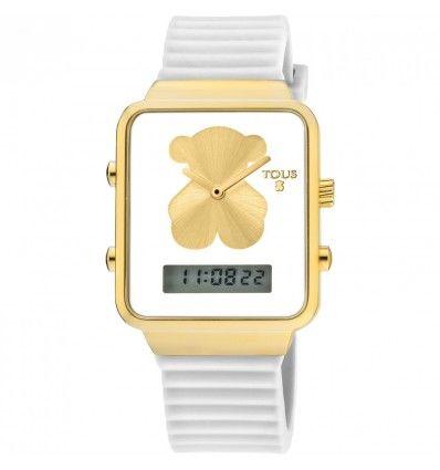 Reloj TOUS 700350145 I-BEAR IPG DIG SQUARE ESF BCA CORR BOA MUJER