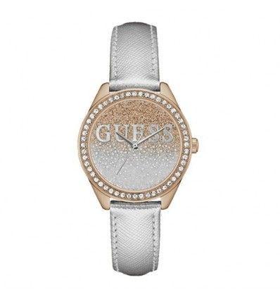 Guess - Glitter girl reloj de mujer cuarzo 36mm correa de cuero w0823l7