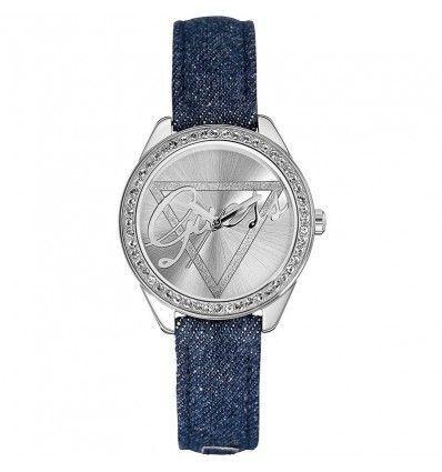 Guess W0456L1 - Reloj de cuarzo , correa de cuero color azul
