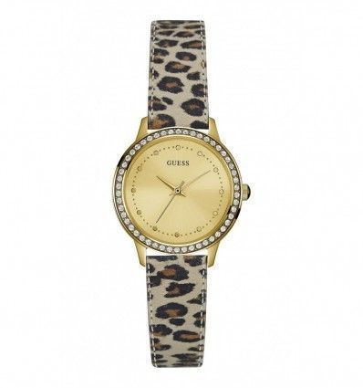 Guess–Reloj de pulsera analógico para mujer cuarzo piel w0648l8