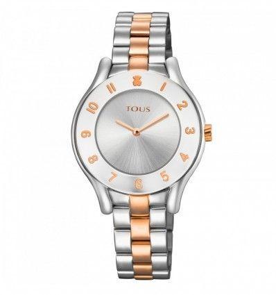 Reloj TOUS 700350240 Reloj Errold bicolor de acero/IP rosado