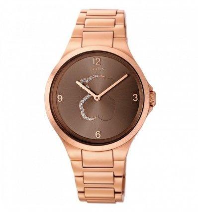 Reloj TOUS 700350215 Reloj Motion de acero IP rosado con cristales transparentes