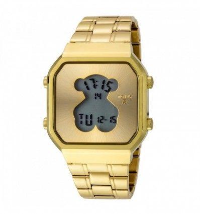 Reloj TOUS 600350285 Reloj D-Bear SQ de acero IP dorado