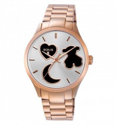 Reloj TOUS 800350805 Reloj Sweet Power de acero IP rosado con correa de silicona rosa