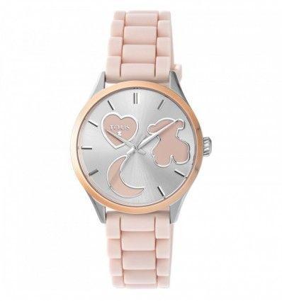 Reloj TOUS 800350745 Reloj Sweet Power de acero IP rosado con correa de silicona rosa