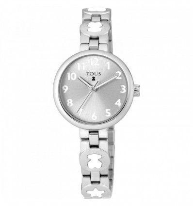 Reloj TOUS 700350015 Reloj Bahia de acero con motivos color blanco