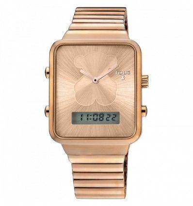 Reloj TOUS 700350130 Reloj digital I-Bear de acero IP rosado