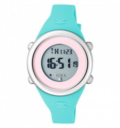 Reloj TOUS 800350620 Reloj Soft Digital de acero con correa de silicona menta