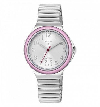 Reloj TOUS 800350640 Reloj Easy de acero con bisel rosa