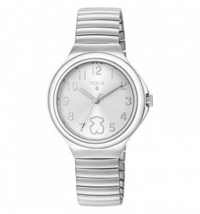 Reloj TOUS 800350645 Reloj Easy de acero con bisel blanco