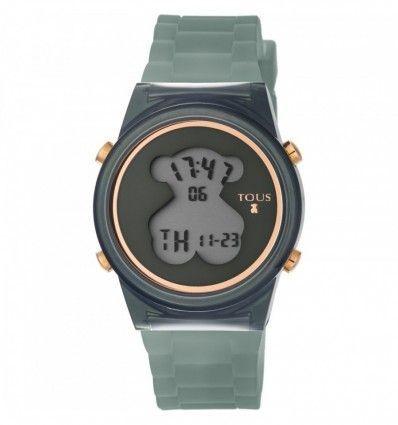 Reloj TOUS 800350685 Reloj D-Bear Fresh de policarbonato con correa de silicona gris oscuro