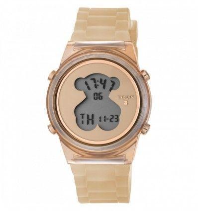 Reloj TOUS 800350695 Reloj D-Bear Fresh de policarbonato con correa de silicona nude