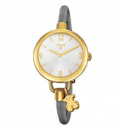 Reloj TOUS 700350220 Reloj Hold de acero IP dorado con correa de acero