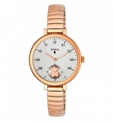 Reloj TOUS 700350200 Reloj Spin Flex de acero IP rosado