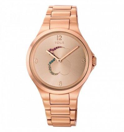 Reloj TOUS 700350210 Reloj Motion de acero IP rosado con cristales de colores
