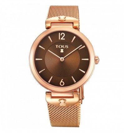 Reloj TOUS 700350290 Reloj S-Mesh de acero IP rosado