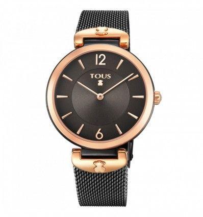 Reloj TOUS 700350300 Reloj S-Mesh bicolor acero IP rosado/IP negro