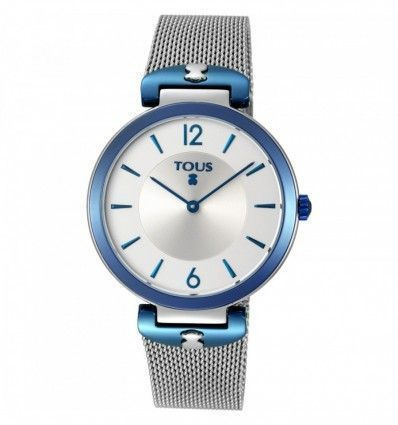 Reloj TOUS S-Mesh bicolor acero/IP azul