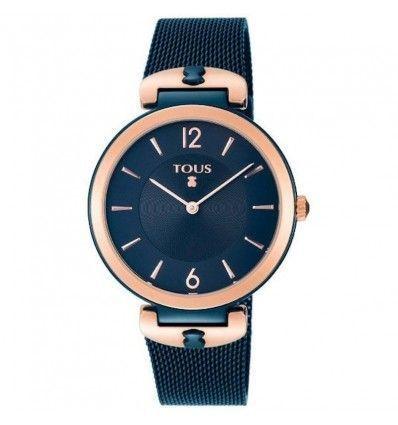 Reloj TOUS S-Mesh en acero IP azul y rosado