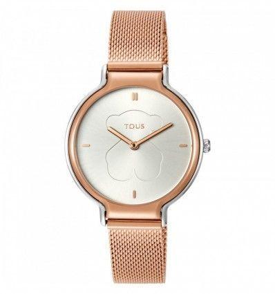 Reloj TOUS Real Bear bicolor de acero/IP rosado