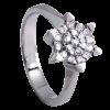 Anillo en oro blanco con diamantes talla brillante cuajado en estrella