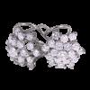 ,Pendientes en oro blanco modelo rosetón en doble altura,,,, con diamantes blancos talla brillante,,,