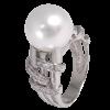Anillo de la Colección Nunet en oro blanco con diamantes blancos talla brillante y perla Australiana