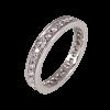 Alianza completa en oro blanco con diamantes blancos talla brillante