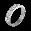 Alianza doble en oro blanco con diamantes blancos talla brillante,, ancho del brazo 4,,30 mm,