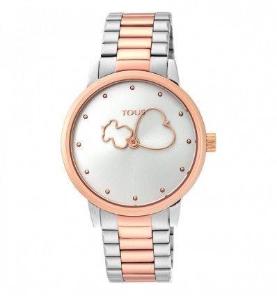 Reloj TOUS 900350315 Reloj Bear Time bicolor de acero/IP rosado Mujer